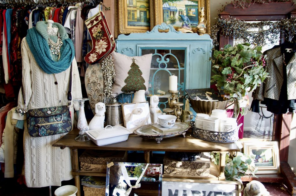 Clothing, accessories and household items found at Saving Grace Boutique and Consignment store.