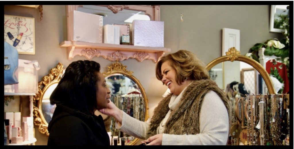 Vida Kuhns owner of Saving Grace Boutique and Consignment store and Kimberly R. Jones owner of Practical Stylish Living Blog.