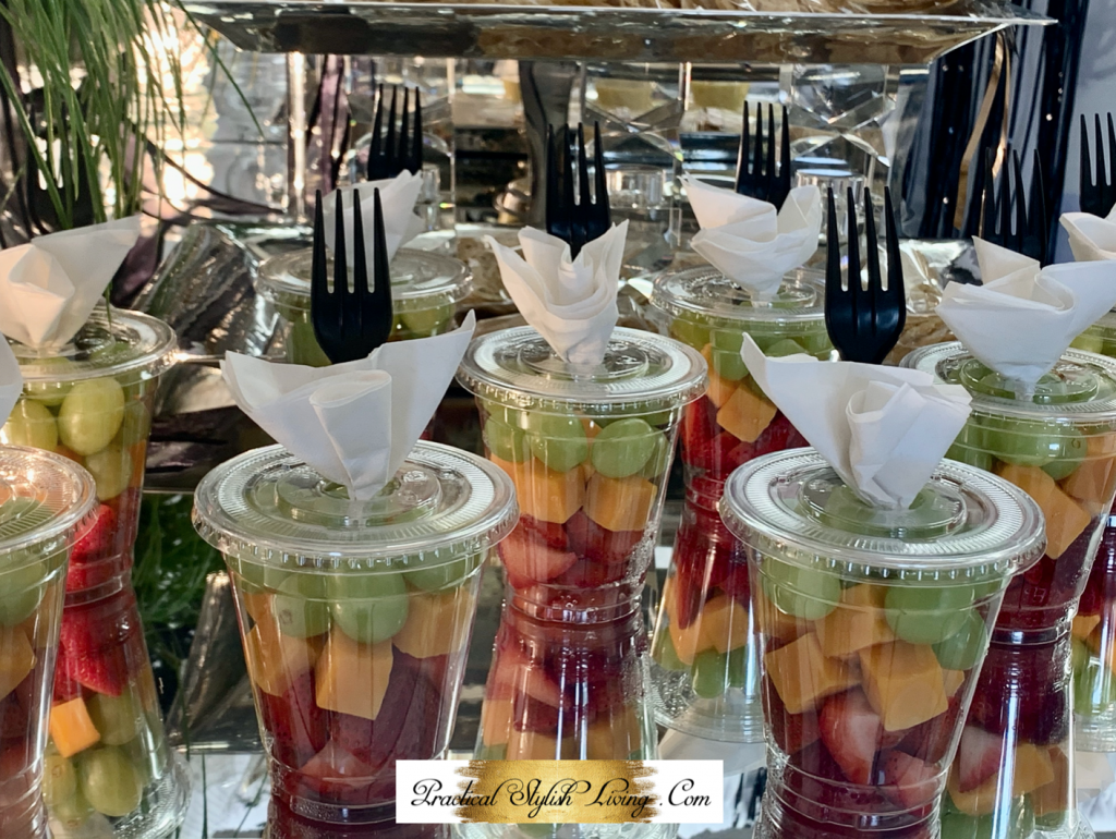 Grab and go fruit and cheese cup.