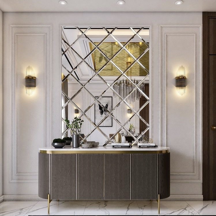 Practical Stylish Living mirror accent wall ideas