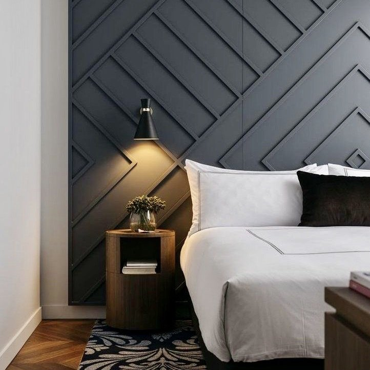 Practical Stylish Living architectural accent wall ideas
