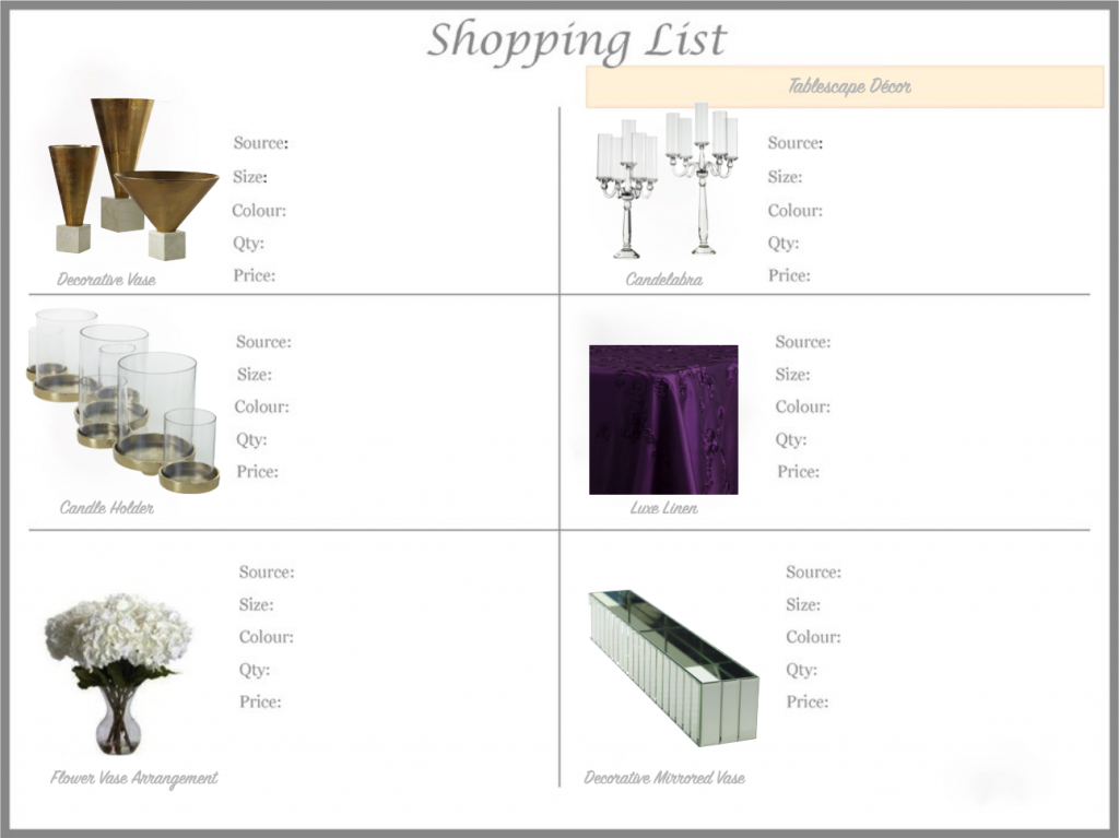 Professional online Luxury Tablescape Styling service