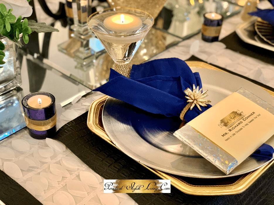 Elegant wedding part table decor